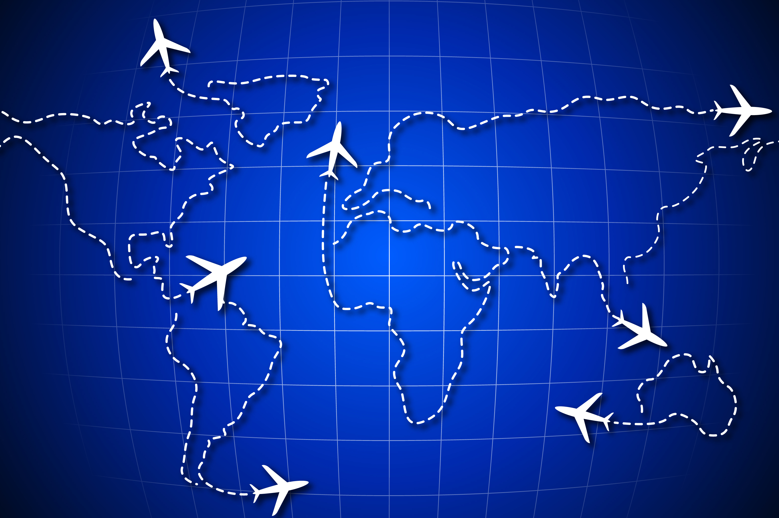 Unique vector air travel world map background aero travel tours unique vector air travel world map background gumiabroncs Choice Image
